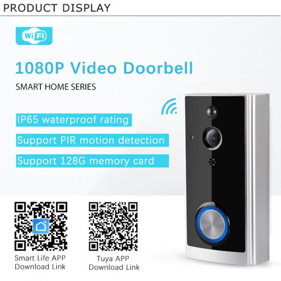 Wifi Smart Camera Video Door Bell